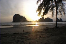 cruise Trang beach at sunset  . . .