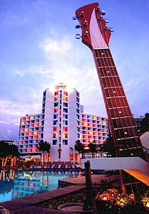 Pattaya Hard Rock Hotel on the Beach Road in South Pattaya-