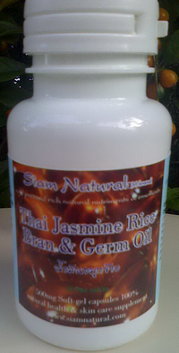Siam Natural cold pressed Jasmine Rice Bran Oil 500mg soft-gel caps [Oryza sativa]