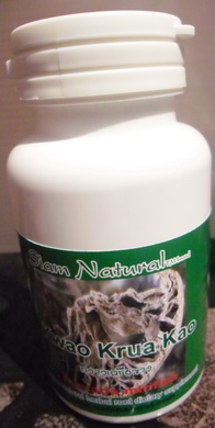 New organically cultivated Kwao Krua Kao - no chemicals Pure Pueraria mirifica V-caps